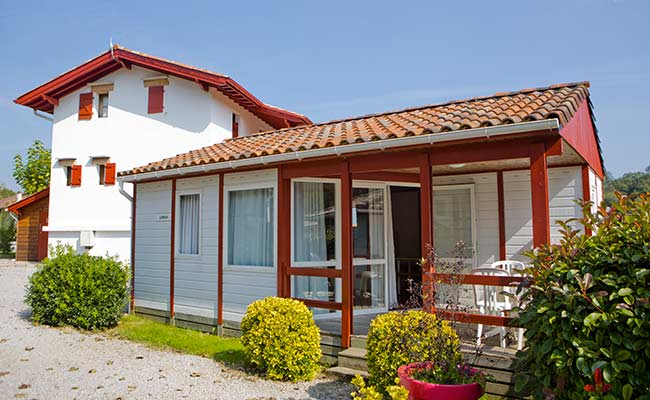 location de chalet camping rhune