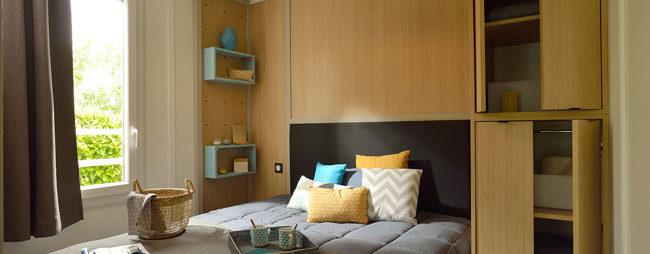 chambre lit chalet